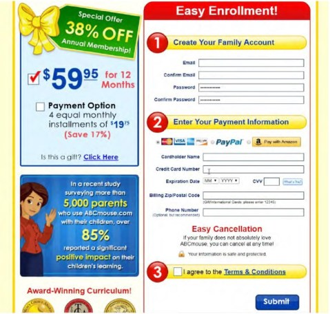 ABCmouse order page