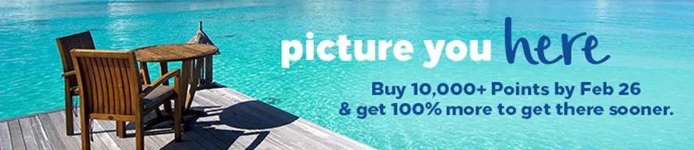 Meilenckaufen mit einen Punktebonus von 100%   Foto: Hilton Honors