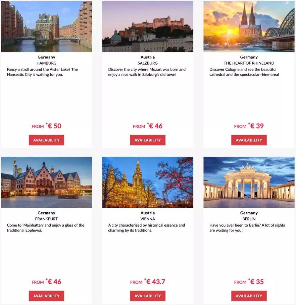 Hier eine Auswahl der Hotels die bei der Promotion teilnehmen und 20% Frühbucherrabatt Mitgliedern geben. Foto: Le Club