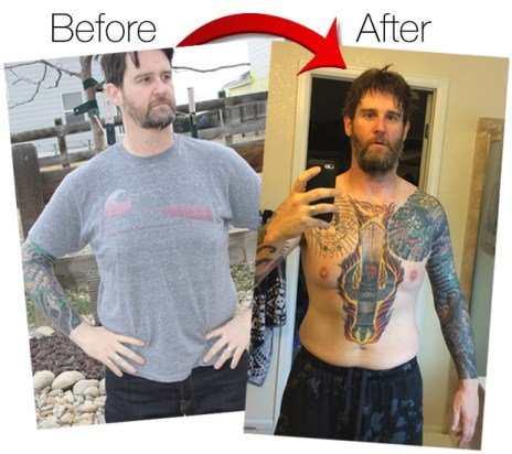 ryan before and after weight loss fort collins personal trainer