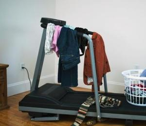 Don't let your treadmill or any other type of exercise equipment become your clothes hanger!