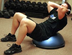 Bosu Crunch is an example of a core muscle exercise.