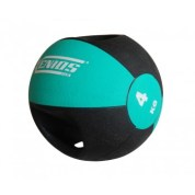 An example of a medicine ball. Medicine ball exercises are very beneficial in workouts.