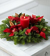 The FTD® Heartwarming Holidays Centerpiece by Better Homes and Gardens®