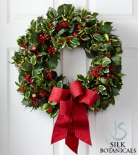 Jane Seymour Silk Botanicals Christmas Tidings Wreath