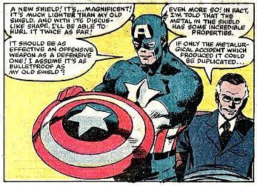Captain America 1940 S Shield 1:6 Scaled Replica nouveau mais endommagé cases