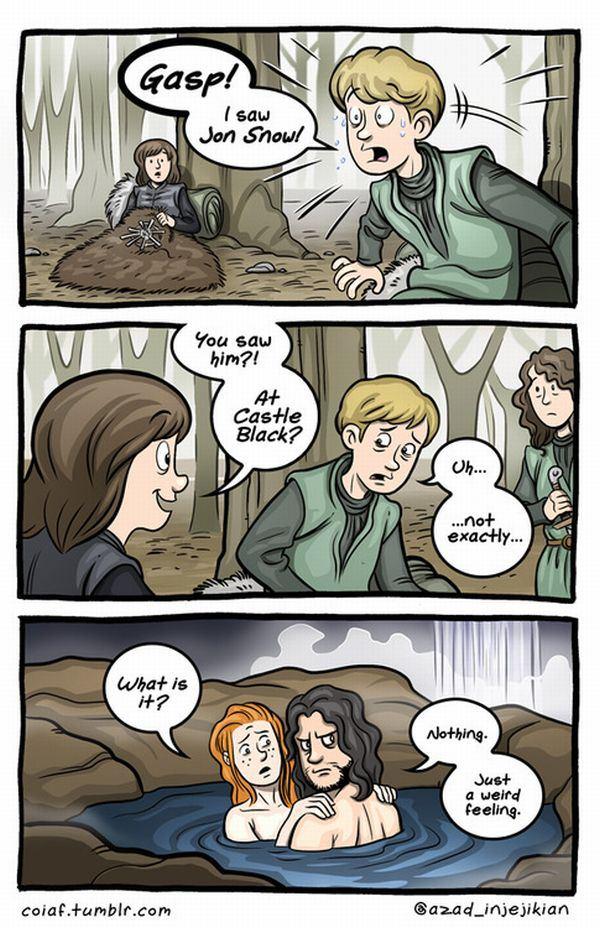 Game-of-Thrones-Comic-Jon-Snow-and-the-Warg