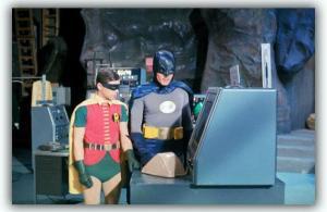 batman 1966 adam west burt ward robin batcave abc tv dc comics silver age set