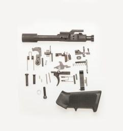 m16 complete lower receiver replacement parts set kit plus bcg [ 1000 x 1000 Pixel ]