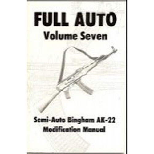 Cobray M11 /9 Semi To Full Auto Conversion Manual