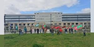 Concentracion Euskadi stop agresiones a los vigilantes