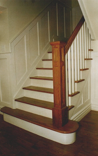 Handrail And Staircase Picture Gallery Finishing Touches Toronto   Square Newel Post Designs   Iron   3 Inch   Victorian Oak Newel   Modern Square   Stair Newel