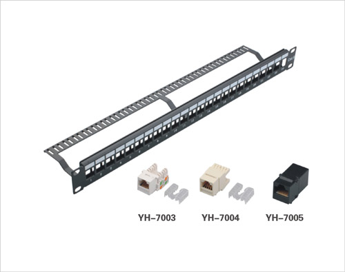 24port Blank Patch Panel with Cable Manager, China 24port