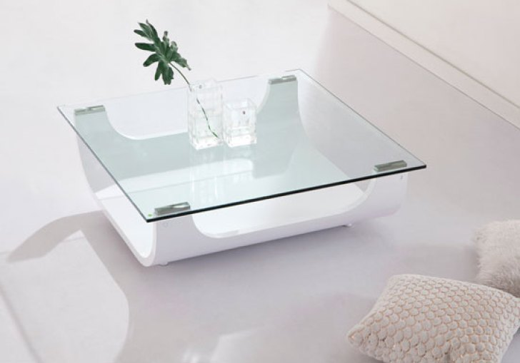 White Square Coffee Table With Storage