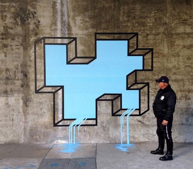 3D Street Art 12 640x560 Arte Urbana em 3D