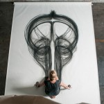 Physical Movement Translated into Symetrical Drawings 4