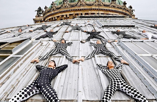 Rooftop Dancers by JR