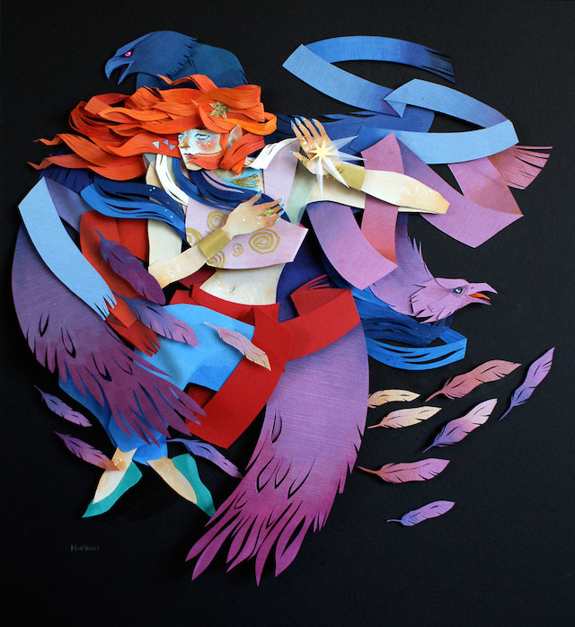 Paper Cut Illustrations