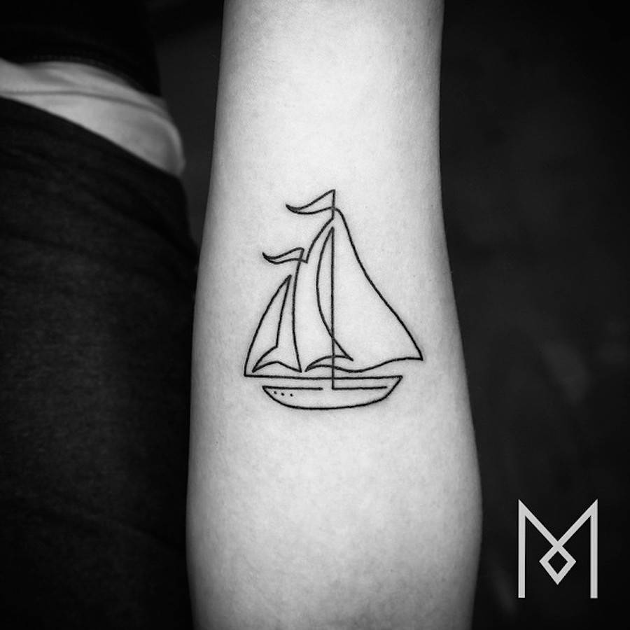 linear tattoos by mo ganji art exists because life is not enough. Black Bedroom Furniture Sets. Home Design Ideas