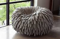 Feather-Like Puffy Chair  Fubiz Media