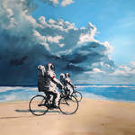 Nice Paintings of Astronauts in Diverse Situations-0