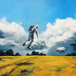 Nice Paintings of Astronauts in Diverse Situations-1