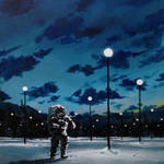Nice Paintings of Astronauts in Diverse Situations-6