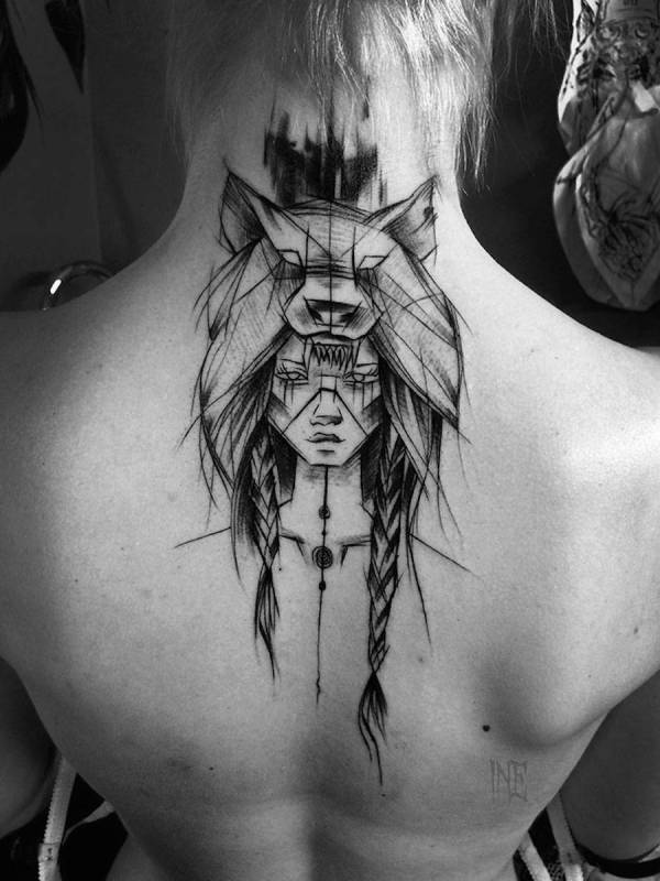Impressive Black And White Sketch Tattoos Fubiz Media