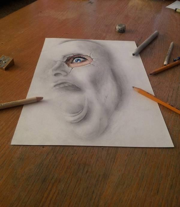 Incredible 3d Pencil Drawings Fubiz Media