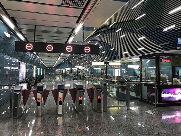 Lonely Subway Station in China Fubiz Media