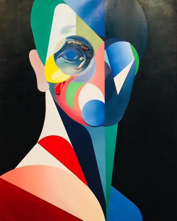 Modern Cubist Portraits Fubiz Media