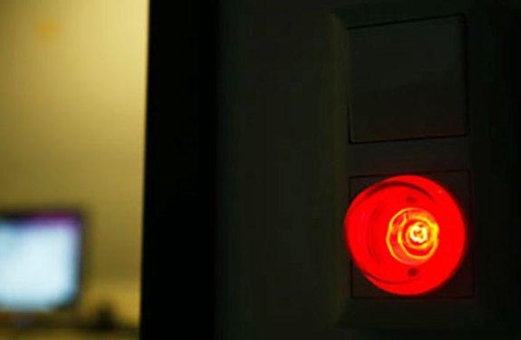 Rote Kontrolleuchte bei aktiver Tonaufnahme
