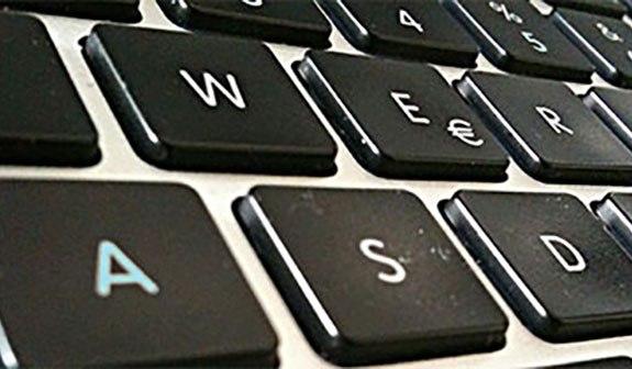Aufnahme Tastatur