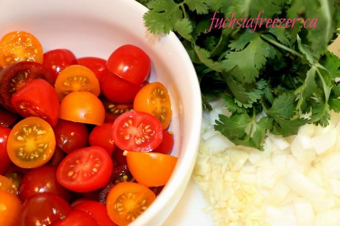 tri-coloured tomatoes