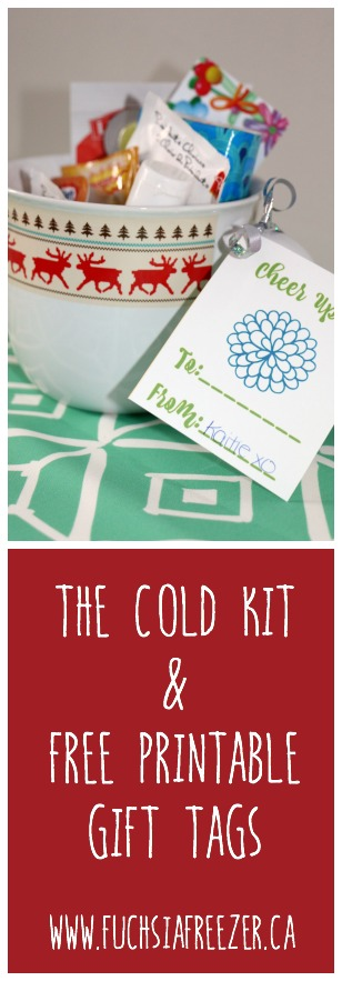 Have a sick friend or loved one? Why not warm them them up with this thoughtful Cold Kit! Plus free gifting printables!