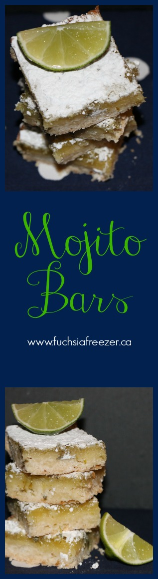Mojito Bars! Easy, delicious, and totally kid-friendly, try this amazing dessert and take a twist on a classic! Yum! For this and other great desserts, visit www.fuchsiafreezer.ca