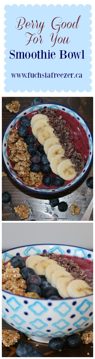 A delicious and fun way to start your day! Try this amazing (and super healthy) Berry Good For You Smoothie Bowl! Cherries, Blueberries & Blackberries make this a morning treat!