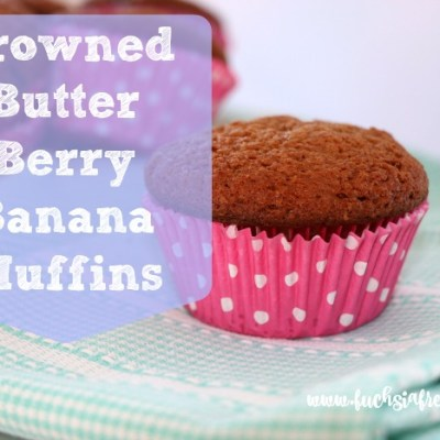 Browned Butter Berry Banana Muffins