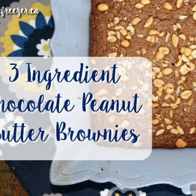 3 Ingredient Chocolate Peanut Butter Brownies