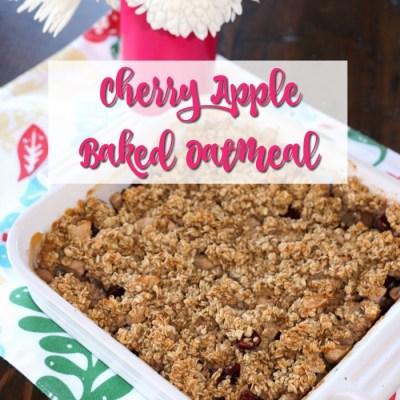 Cherry Apple Baked Oatmeal