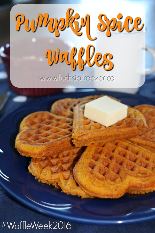 Amazing and sweet Pumpkin Spice Waffles! Keep warm and enjoy with butter on a cool, crisp fall morning.