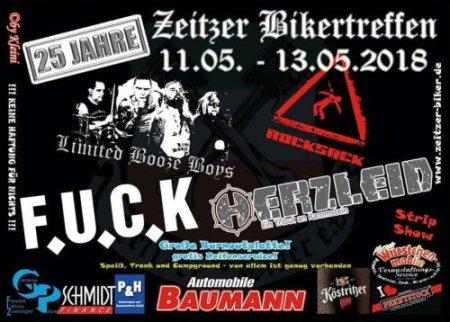 Flyer 25 Jahre Zeitzer Bikertreffen