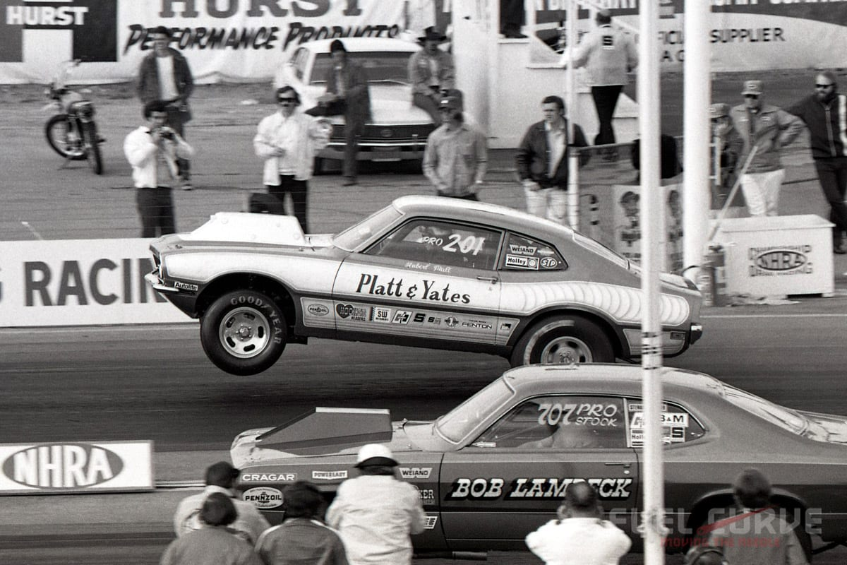 1970s Pro Stock Drag Racing Time Capsule Fuel Curve