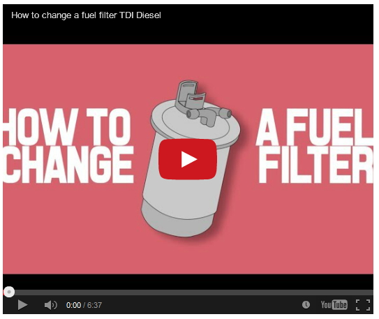 change fuel filter replacement