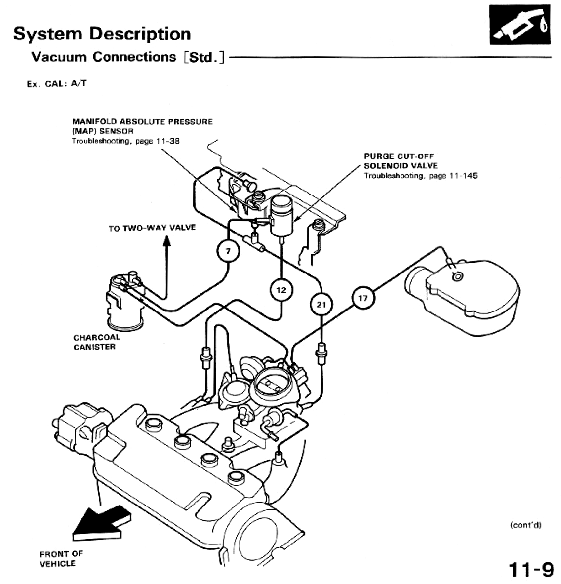 Honda Civic Vacuum Diagram 91. Honda. Auto Parts Catalog