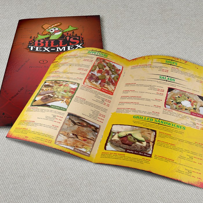 why restaurant menu designs should accentuate the core theme
