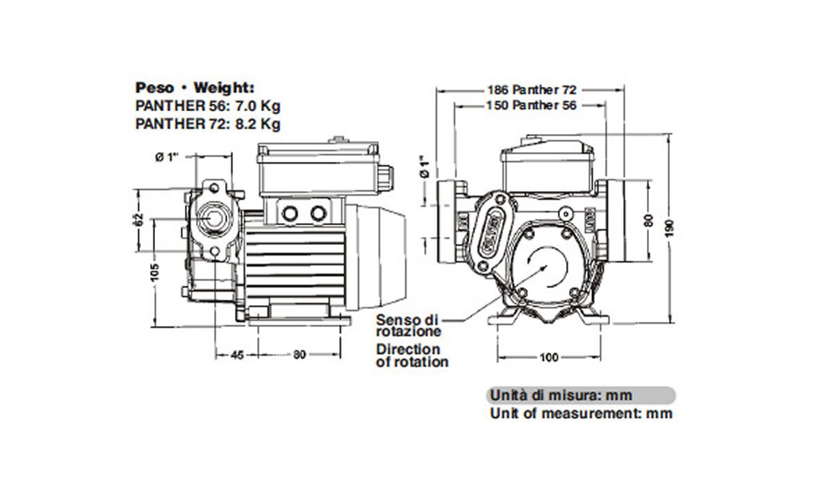230V Piusi Panther 56 Electric Fuel Pump