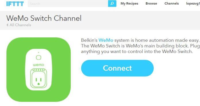 IFTTT WeMo Connect