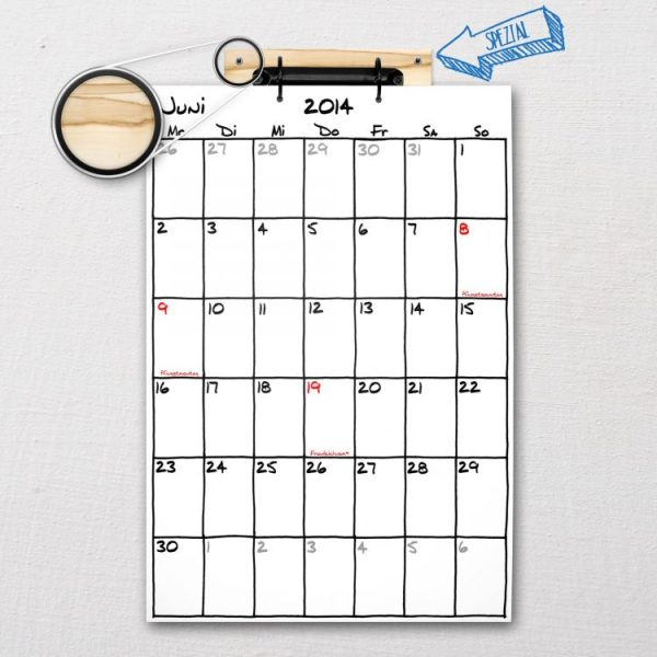 Kalender Special: Aufhängung mit besonders schöner Maserung | Fünf vor Zehn