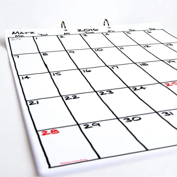 Tischkalender Sketch | Fünf vor Zehn